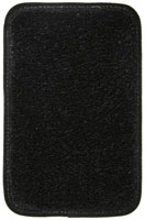 #100 Black Carpet Floor Mats for 1980 - 1991 Vanagon GL (7 Passenger)