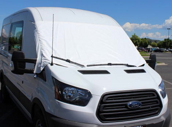 2014 - 2017 Ford Transit Full Sized Van Marine grade 2-ply polyester Windshield Cover