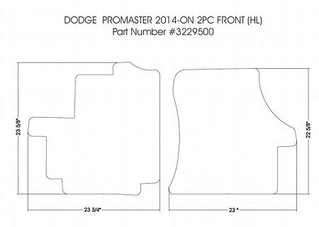 2 Piece Front Rubber Mat Set All 2014 2019 Dodge