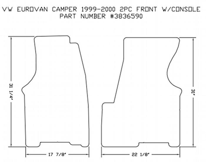 2 Piece Front Carpet Mat Set All 1999 2000 Vw Eurovan Camper By