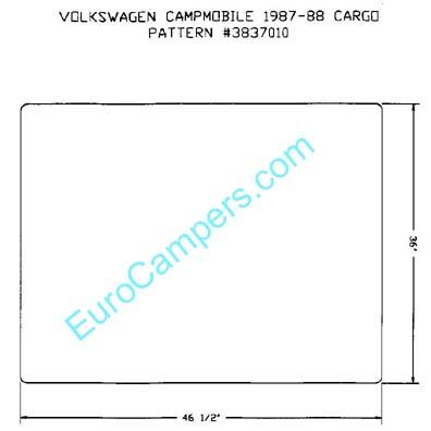 Cargo Area Carpet Deck Mat Fits 1980 1991 Vw Vanagon