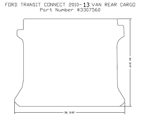 Rear Cargo Area Rubber Floor Mat For All Ford Transit - Rubber connecting floor mats