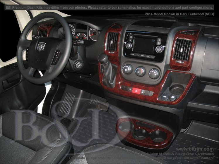 2014 On Dodge Promaster 7pc Premium Molded Dash Kit