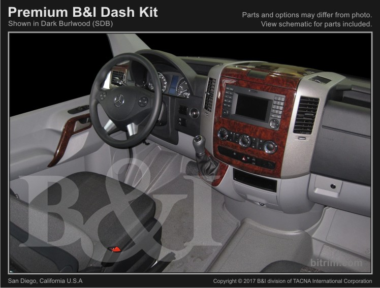 2007 2018 Sprinter 7pc Premium Molded Combo Kit