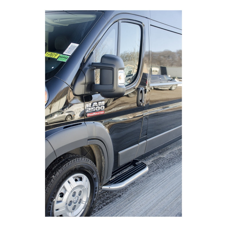 2014 2018 Dodge Promaster Stainless Cab Step Set