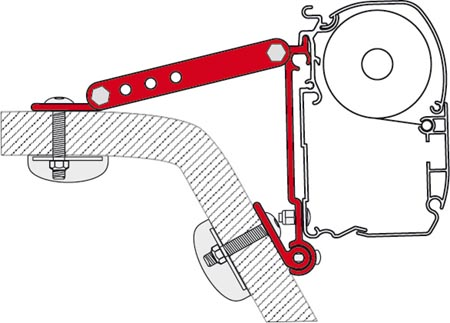 Fiamma Winnebago Rialta Mounting Brackets For F45 Awnings