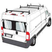 Ram ProMaster H1 Style Aluminum and Steel Roof Rack Systems