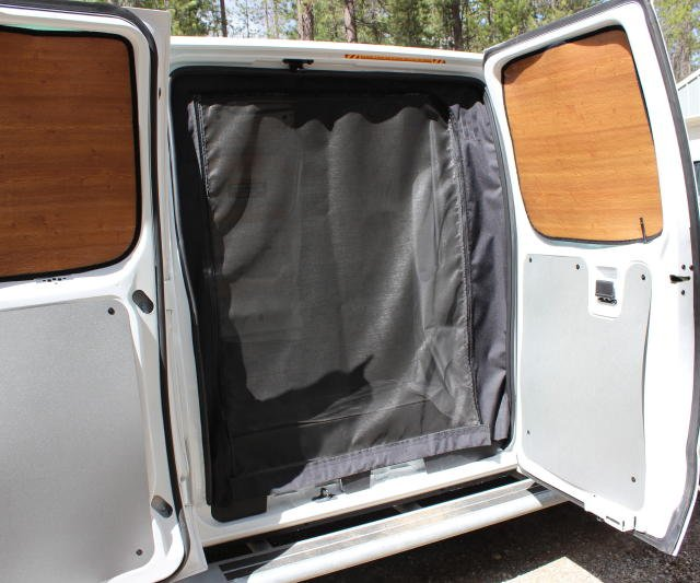 2008 2014 Ford E Series Van Rear Door Screen Kit