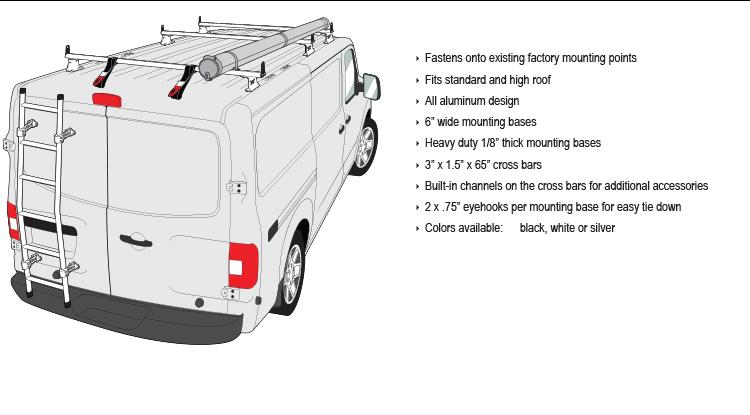 Vantech H3 Style Roof Racks For Nissan Nv Full Size