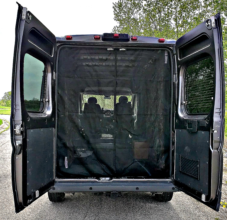 2014 2017 Dodge Ram Promaster Rear Door Screen Kit High