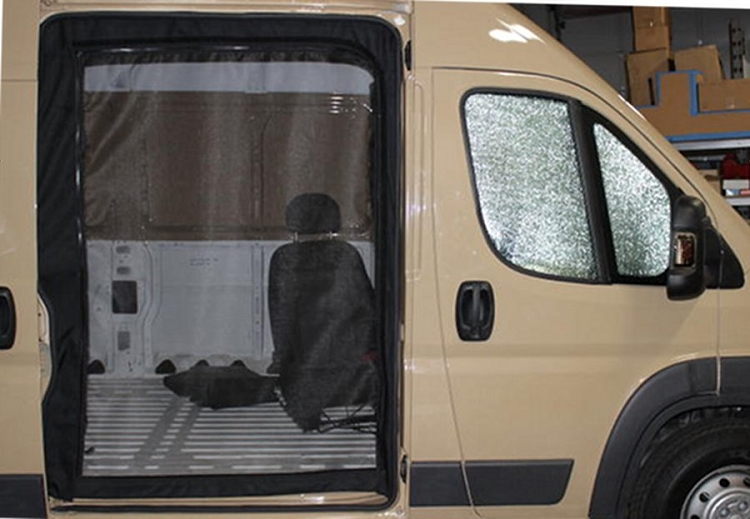 2015 Dodge Promaster >> 2014 - 2017 ProMaster Sliding Door Screen Kit for high or standard roof models New! - no drill ...