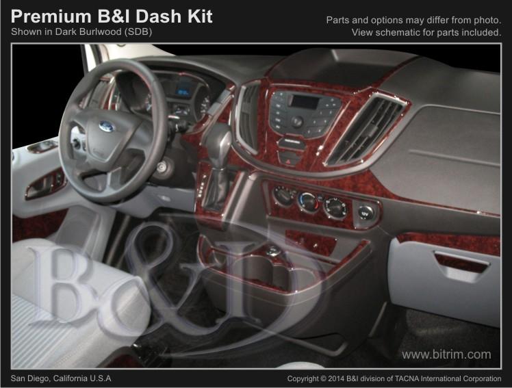 2015 2016 Ford Transit Full Size Van 37pc Premium Dash Kit