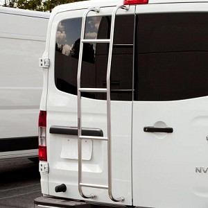 2015 - 2019 Ford Transit Low Roof Drivers Side Rear Door Ladder