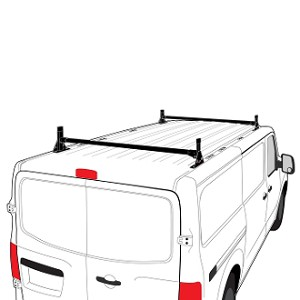 H1 Style Steel 2 Bar Roof Rack System for Nissan NV Full Size
