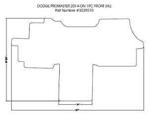 1 piece front carpet mat all 2014 - 2019 Dodge ProMaster 1500, 2500 & 3500 *see notes for correct fit