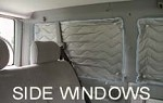 1992 - 2003 EuroVan Side Window Reflective Insulation 4 piece Set - fits GL, CL, GLS, MV (see notes for fit)  - attaches with suction cups