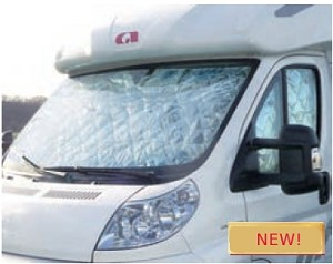 2014 - 2017 Dodge ProMaster 3 piece Cab Window Insulation Set - advanced 7 layer material uses suction cups