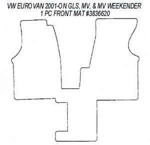 1 Piece Front Rubber Floor Mat For All 2001 2003 Vw