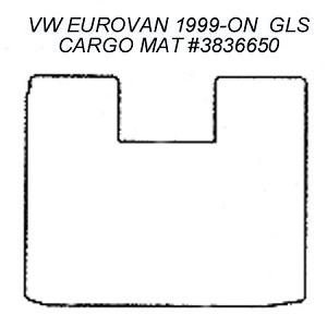 Cargo Area Carpet Floor Mat  fits 1999 - 2003 VW EuroVan GLS Models #100 Black