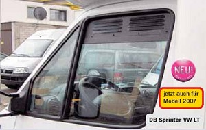 2015 - 2019 Ford Transit Full Size Van Airvent Cab Window Inserts (2pc set - includes both sides)