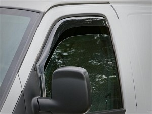 1996 - 2019 Chevy Express & GMC Savana Wind & Rain Deflectors (Dark Tint) Free Shipping!