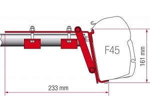 Fiamma  F45 Awning Roof Rack Bracket  1 Piece Set (order 2 or more)