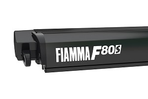 "Fiamma F80S Awning with Deep Black Case 3.7m (12'2"") wide x 8'2"" projection, 66 lbs."