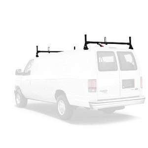 1975 - 2014 Ford Econoline (E Series) H1 2 Bar Aluminum Roof Rack System in Black or White Finish