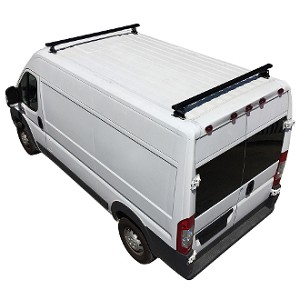 ProMaster H3 Style 2 Bar Aluminum Roof Rack w/ End Caps