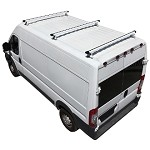 2014 - 2020 ProMaster H3 Style 3 Bar Aluminum Roof Rack w/ End Caps