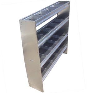 "High Roof 60""H x 72""W Aluminum 4 Level Shelving System"
