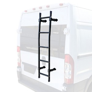 "56"" Aluminum Rear Door Ladder for mid size and full size vans in White, Black or Silver *check description for correct fit"