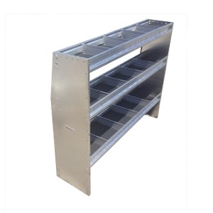 "48""H x 48""W Aluminum 3 Level Shelving System for Full Sized Low Roof Vans"