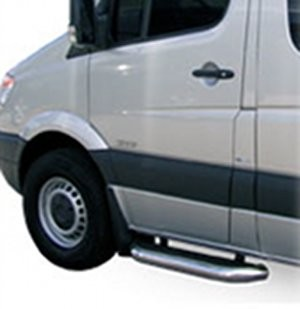 "2001 - on Ford E Series Van Cab Cut-a-way MegaStep® Stainless Cab Step set - two 36"" cab steps - short/short kit"