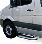 2001 - on Ford E Series Van Cab Cut-a-way MegaStep® Stainless Cab Step set - two 36
