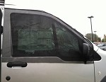 2010 - 2017 Ford Transit Connect Cab Door Window Screens - includes driver & passenger side screens