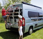 Fiamma Deluxe Rear Door Ladder for ProMaster