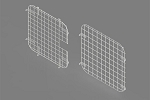 2007 - 2019 Chevy Express / GMC Savana Masterack Double Side Door Safety Screens