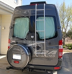 2007 - 2020 Sprinter Rear Ladder - High Roof Passenger Side Rear Door - models with 4 or 6 cylinder engine