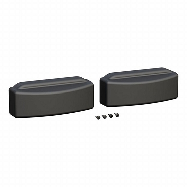 Set of 2 Grip Step End Caps - Black - fits left or right side