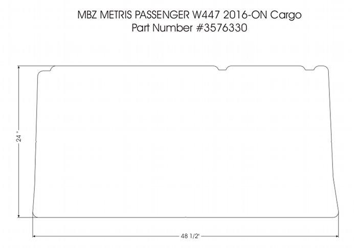 Cargo Area Rubber Floor Mat For 2016 2020 Mercedes Metris 7 Or 8 Passenger Van