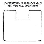 Cargo Area Rubber Floor Mat  fits 1999 - 2003 VW EuroVan GLS Models