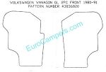 2 Piece Front Rubber Mat Set all 1980 - 1991 VW Vanagon - all models