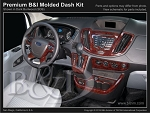 2015 - 2016 Ford Transit Full Size Van 8pc Premium Molded Dash Kit - Fits models without CD radio