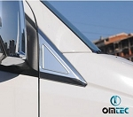 2007 - 2018 Sprinter Chrome Quarter Window 2 piece Kit