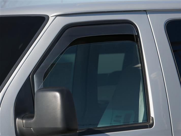 1992 - 2014 Ford E Series Van Wind & Rain Deflectors (Light Tint) Free Shipping!