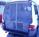 Screen with Center Zipper for EuroVan Weekender Rear Hatch Opening fits 1992-2003