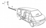 1992 - 2003 VW EuroVan Sliding Door Rain Seal
