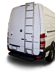 2007 - 2021 Sprinter High Roof Prime Design Aluminum Rear Ladder - No Drilling!