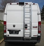 2014 - 2020 Ram ProMaster High Roof Prime Design Aluminum Rear Ladder - No Drilling! B STOCK ITEM, ALL SALES FINAL!